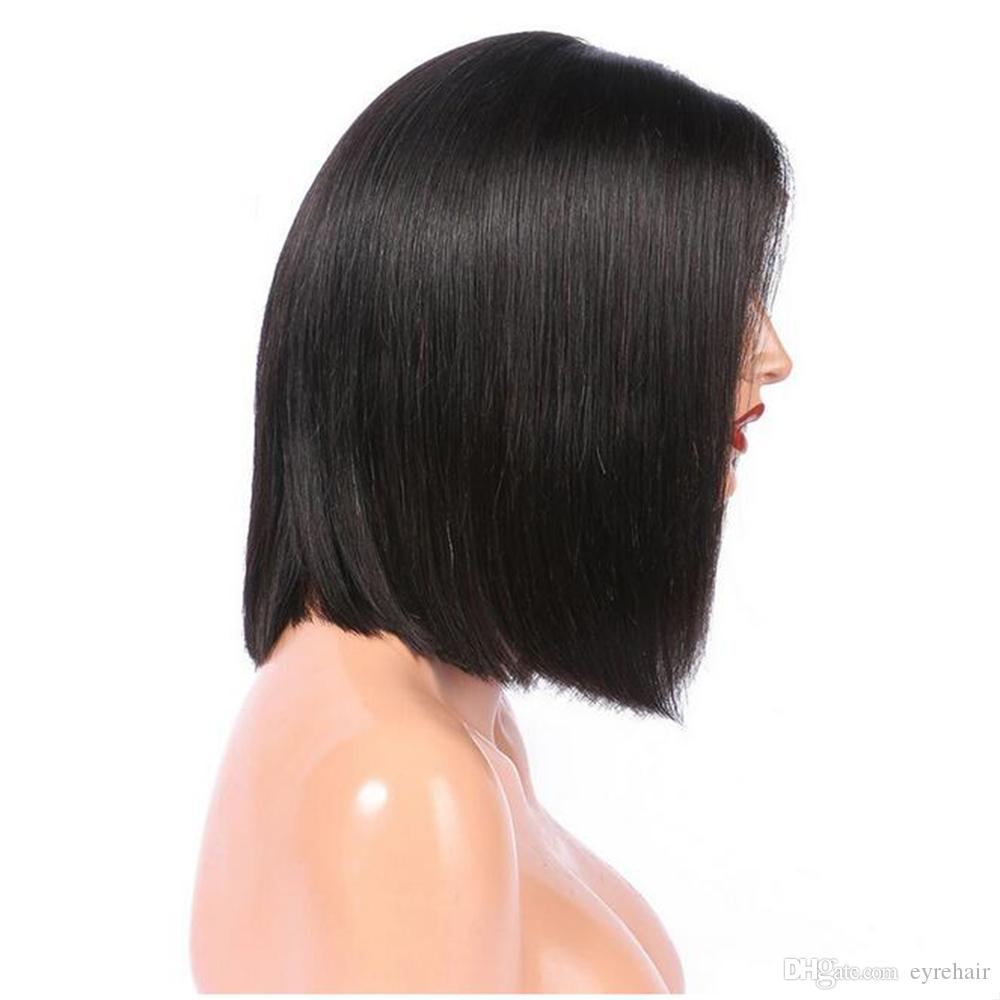 Human Hair Lace Front Wigs Glueless Short Bob Human Hair Wigs Wavy With Baby Hair For Black Women Lace Wigs On Sale