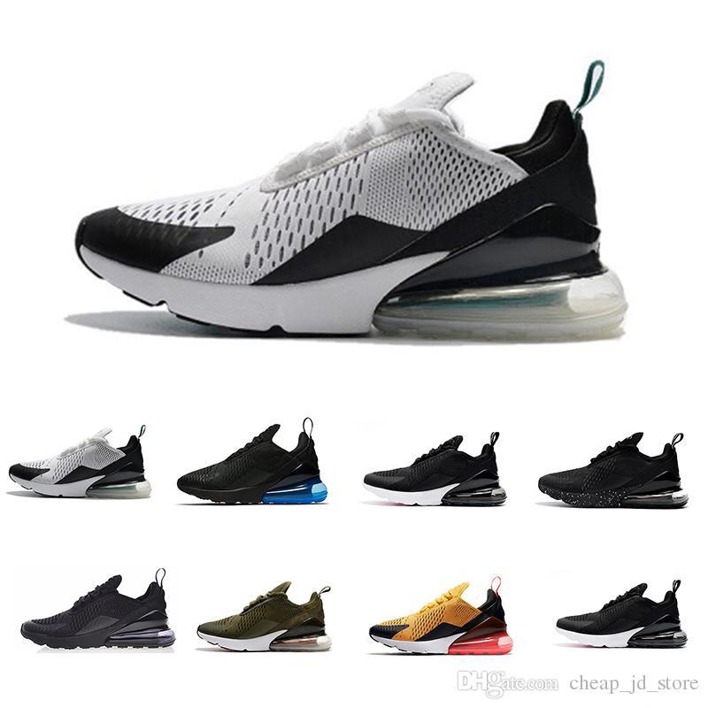 c27e6c3a89bf4e 2018 New 270 Photo Blue Running Shoes Mens Flair Triple Black AH8050 ...