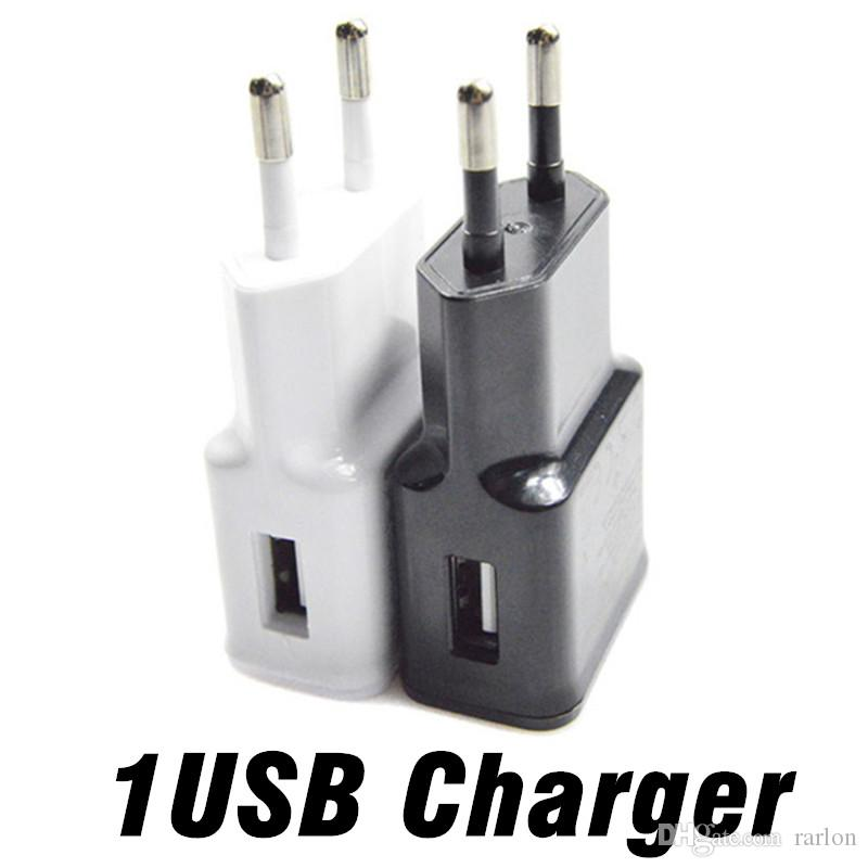 For Samsung S9 Wall Charger EU US Plug Adaptive Phone Charging 5V 2A 1A Home Travel Adpater For Galaxy S8 goophone Phone Tablet