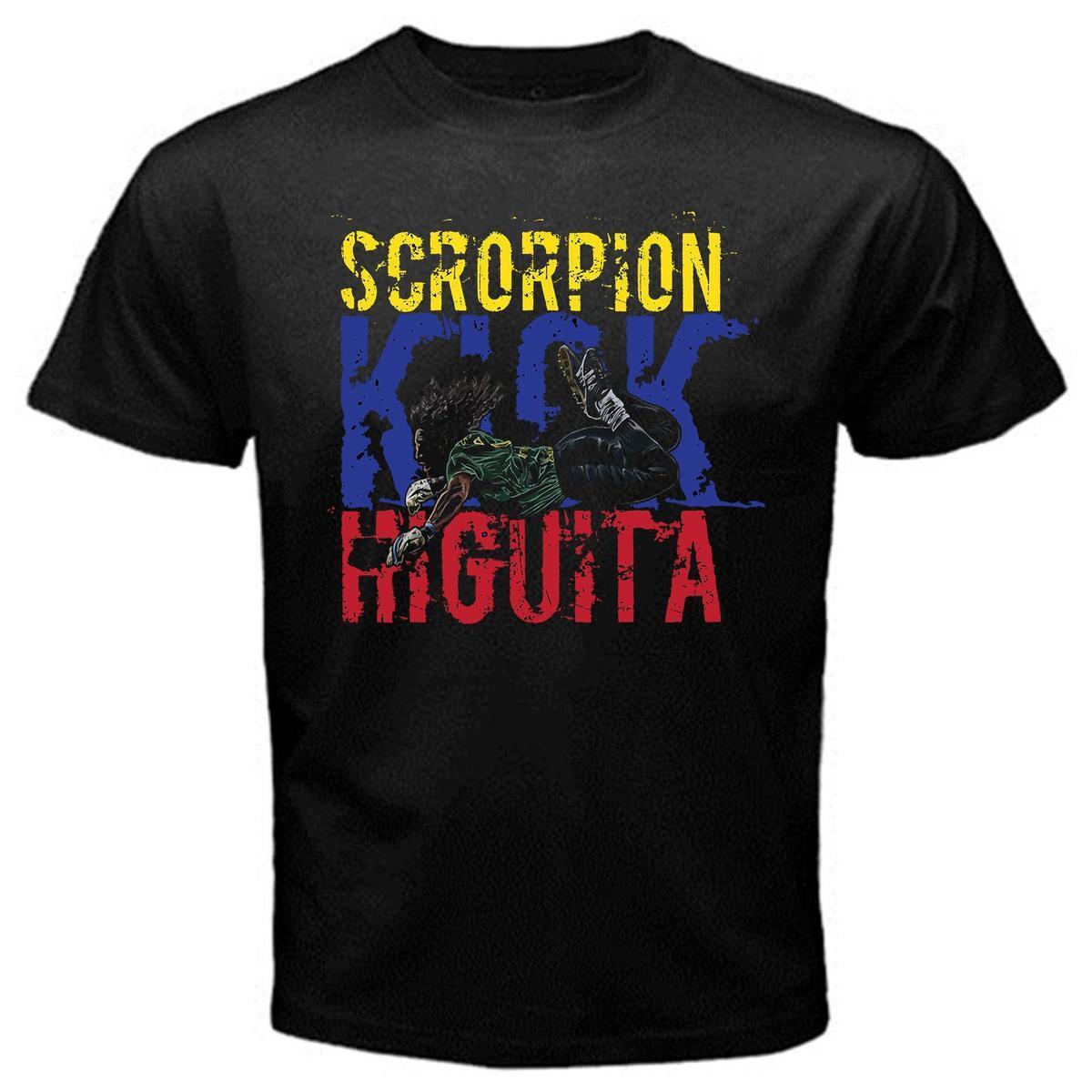 Compre René Higuita El Loco Colombia Patada De Escorpión Fútbol Fútbol  Camiseta Negro A  12.08 Del Amesion2502  d3d7e737e13