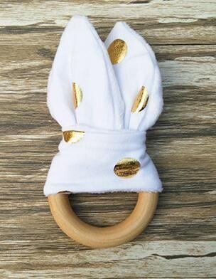 Novo Bebê Teether De Madeira Anel Bebê Molars Dentes Formação Brinquedos Lactentes Mão Chocalhos Recém-nascidos Babys 'Presente Exercícios Brinquedos Dentes treinamento brinquedo KKA1