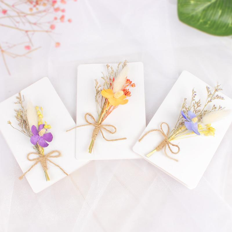 2019 Flowers Cards Christmas Birthday Natural DIY Gifts Card Greeting Creative Hand Made