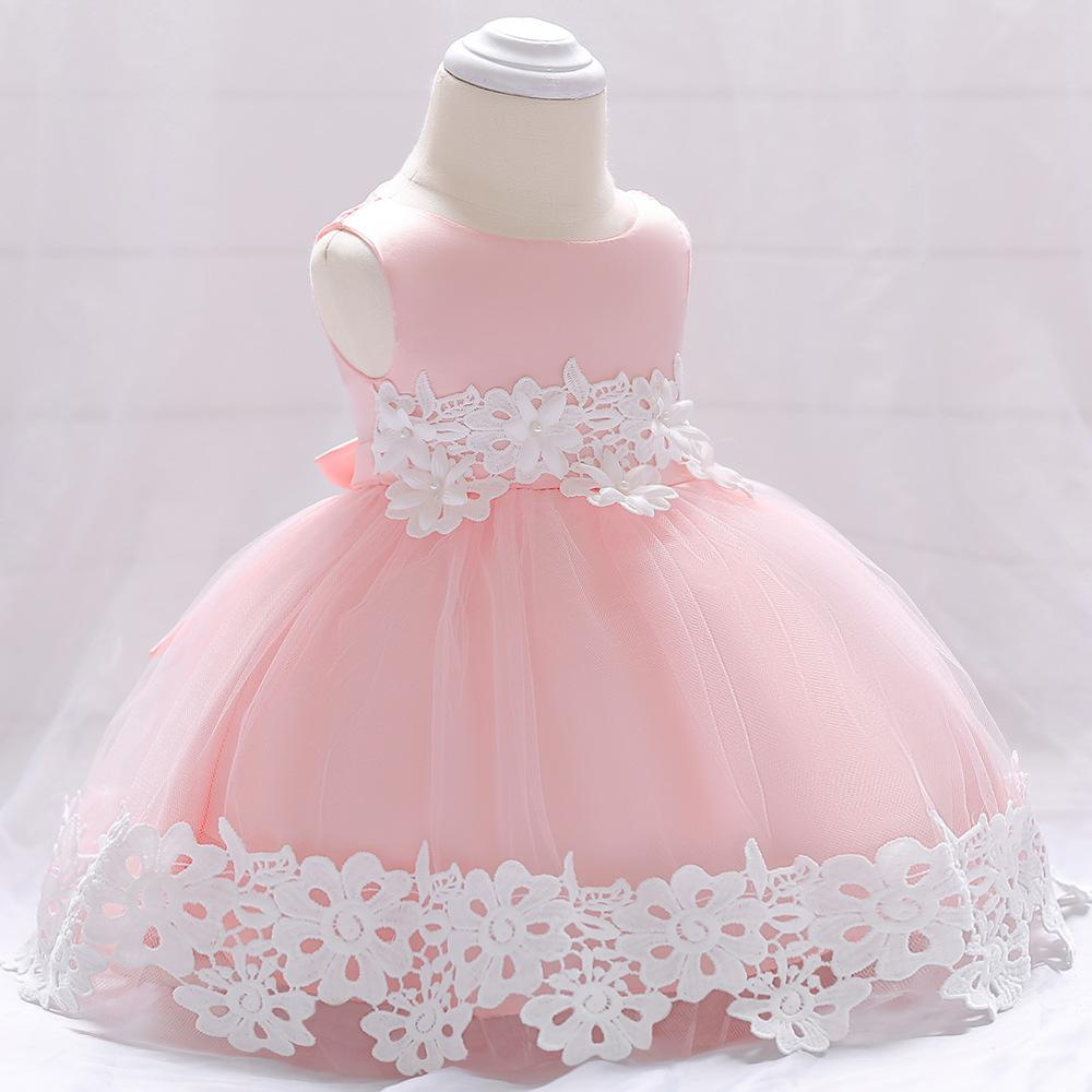 30a5f863481 Baby Infant Flower Girl Dresses Toddler Birthday Party Dresses Blush Pink  Rose Gold Sequins Bow Lace Crew Neck Tea Length Tutu Wedding 2018 Cheap  Flower ...