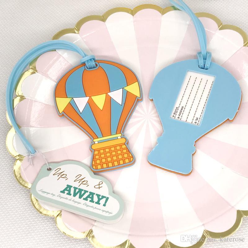 up up away hot air balloon luggage tag summer wedding favors handbag tags bridal shower favor halloween party favors halloween party supplies from