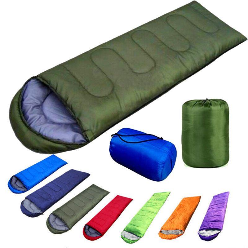 Blanket Outdoor Sleeping Bags Warming Single Sleeping Bag Casual Waterproof  Blankets Envelope Camping Travel Hiking Sleeping Bag XL 509 Dark Green Throw  ... 307f9aa1b