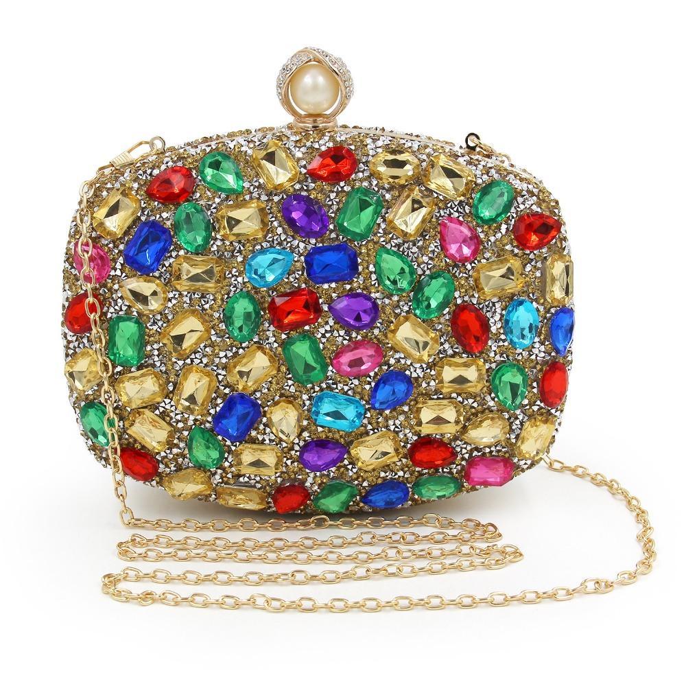 e152306dabe PAVEL Brand Women s Crystal Evening Bag Retro Beaded Clutch Bags ...