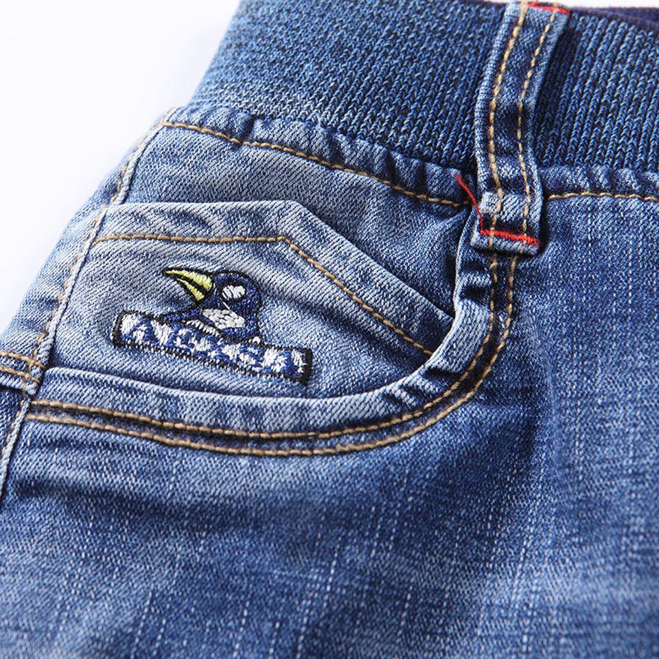 3--15 Yaşında Kış Erkek Kot Sıcak Kaqukaqi Marka Çocuk Pantolon Erkek Bebek Rahat Pantolon Erkek Kot Pantolon Sıska Kot