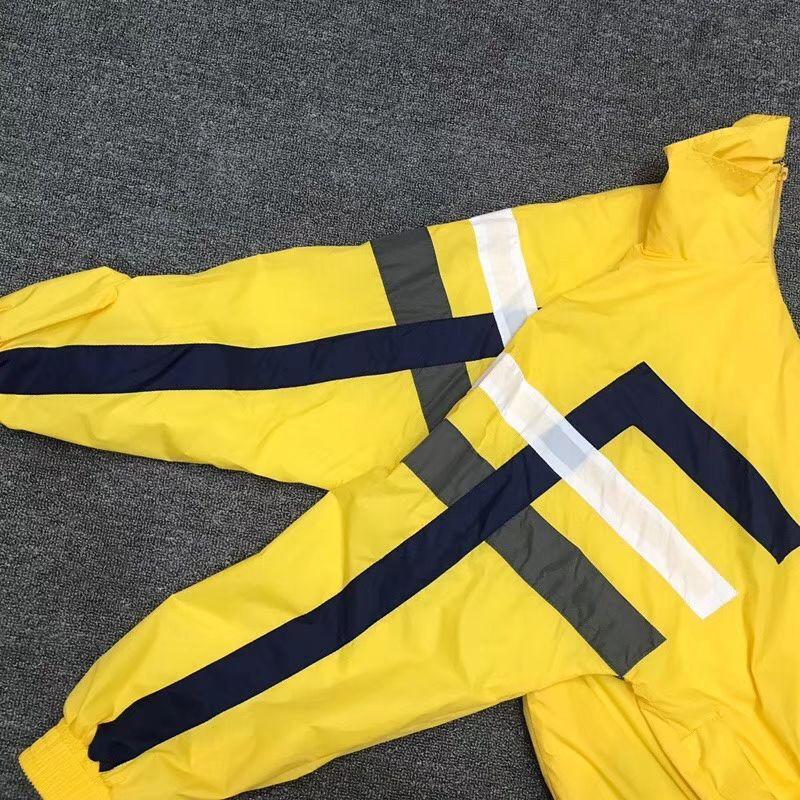 Ms. Men Stripe Giacca sportiva casual giallo slip slip primavera coppie cappotto gratuito