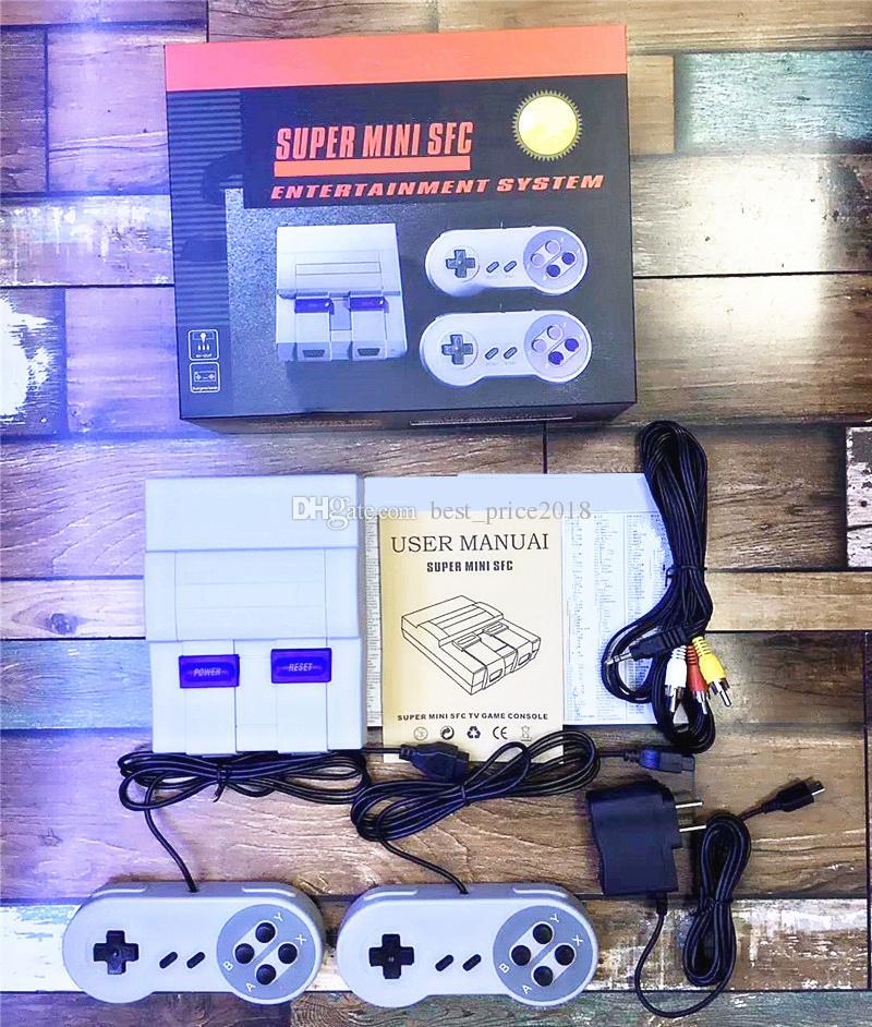 슈퍼 미니 클래식 SFC는 400 미니 TV 휴대용 게임 콘솔 게임을 저장할 수 있습니다 Nes를위한 콘솔 게임 Engilsh 소매 박스 DHL