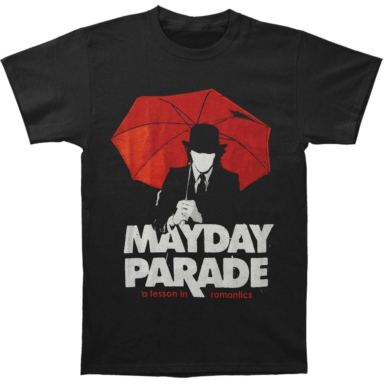 Mayday Parade MenS A Lesson In Romantics Umbrella Man T Shirt Black Silly Tee Shirts Site From Marcusdover 1101