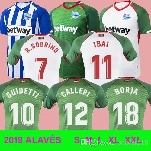 Camiseta De Juego Verde 18 19 Equipación De D. Alavés 2018 2019 Camisetas  De Fútbol Deportivo Alavés Camisetas De Calidad IBAI TOP THAI R. SOBRINO  Por ... a46df950dbc37