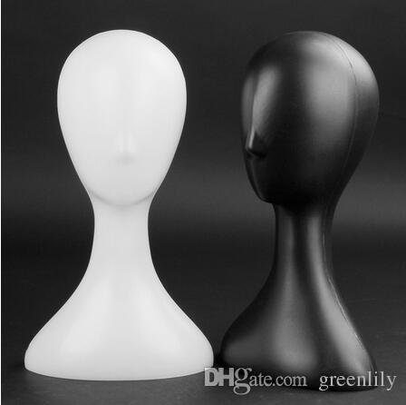 Vit / svart / guld kvinnlig mannequin huvud hatt display stativhållare plast abstrakt
