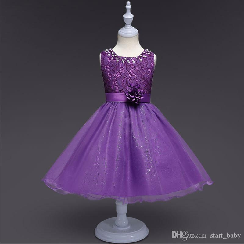 2019 Christmas Flower Party Dresses For Teenager Girl Costume Fashion  Bridesmaid Gown Wedding Evening Frock Children Lace Princess Clothes B11  From ... f3e7d5b989a3