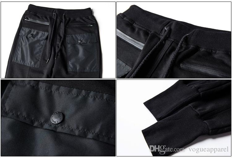 TKPA Sports Pants Mens Black Pencil Pants Cool Male Harem Trousers Pockets Design Jogger Pants