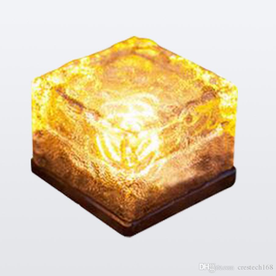 IP65 LED Solar landscape lights Ice cube LED Solar energy underground solar lights flash ice cube lamp lighting sensor