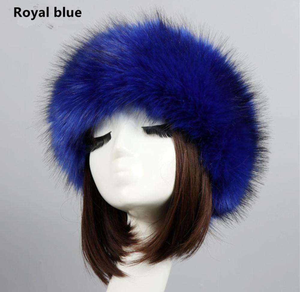 Yyun Luxury Brand Russian Cossack Style Faux Fur Headband For Women Hair  Band Femme Winter Earwarmer Earmuff Hat Ski Decorative Hair Pieces Hair  Decorations ... 77edeb650bfe