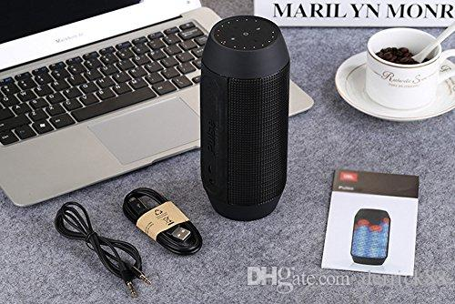 Portable Creative LED Wireless Bluetooth Speaker with Six Cool Light Modes Hifi Sound Strong Bass for all Bluetooth-enabled Devices Party