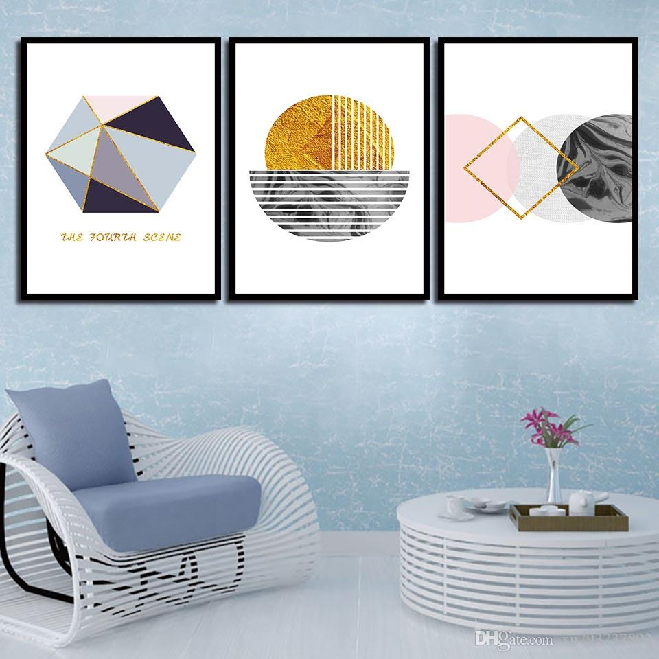 2018 Painting Minimalist Poster Simple Abstract Geometry Nordic Style  Canvas Art HD Print Wall Pictures For Home Wedding Decoration From  Xu793737893, ...