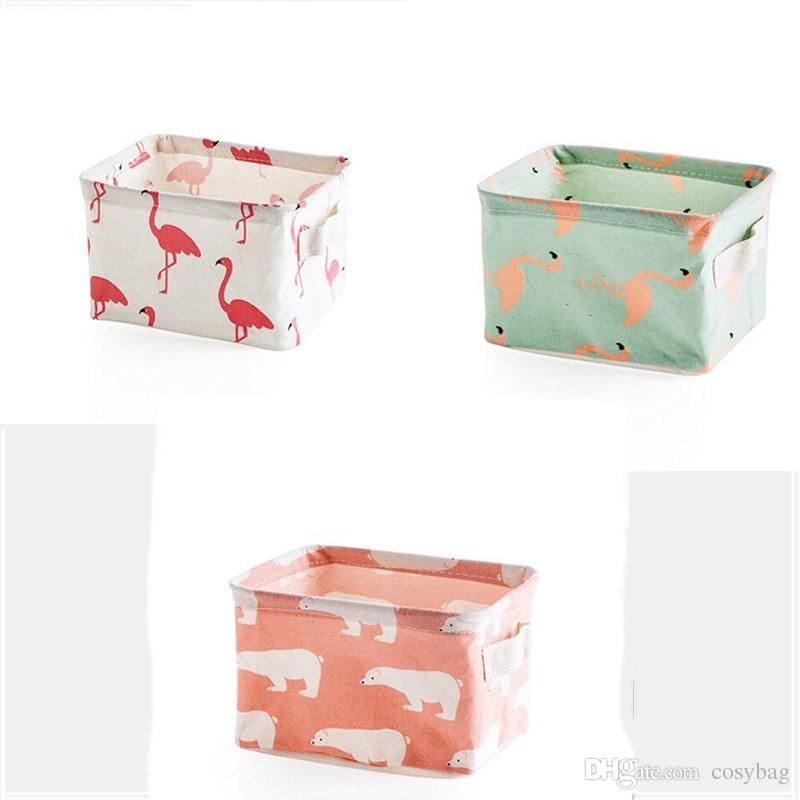 Folding Storage Baskets Bins Kids Room Toys Storage Bags INS Storage Basket Bucket Clothing Organizer Laundry Bag Linen Cartoon