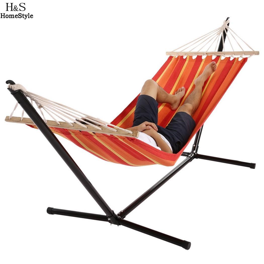 Compre Homdox Single Outdoor Patio Stand Hamaca Swing A Rayas Con ...