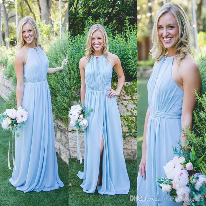 Baby Blue Bridesmaid Dresses Cheap