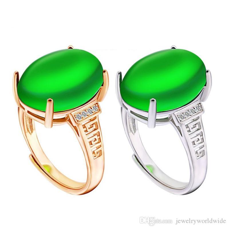 Impostazioni di anello di montaggio semi grande pietra ovale con lato CZ Blank Base Solid 925 sterling silver gioielli da sposa sposa damigella d'onore regali