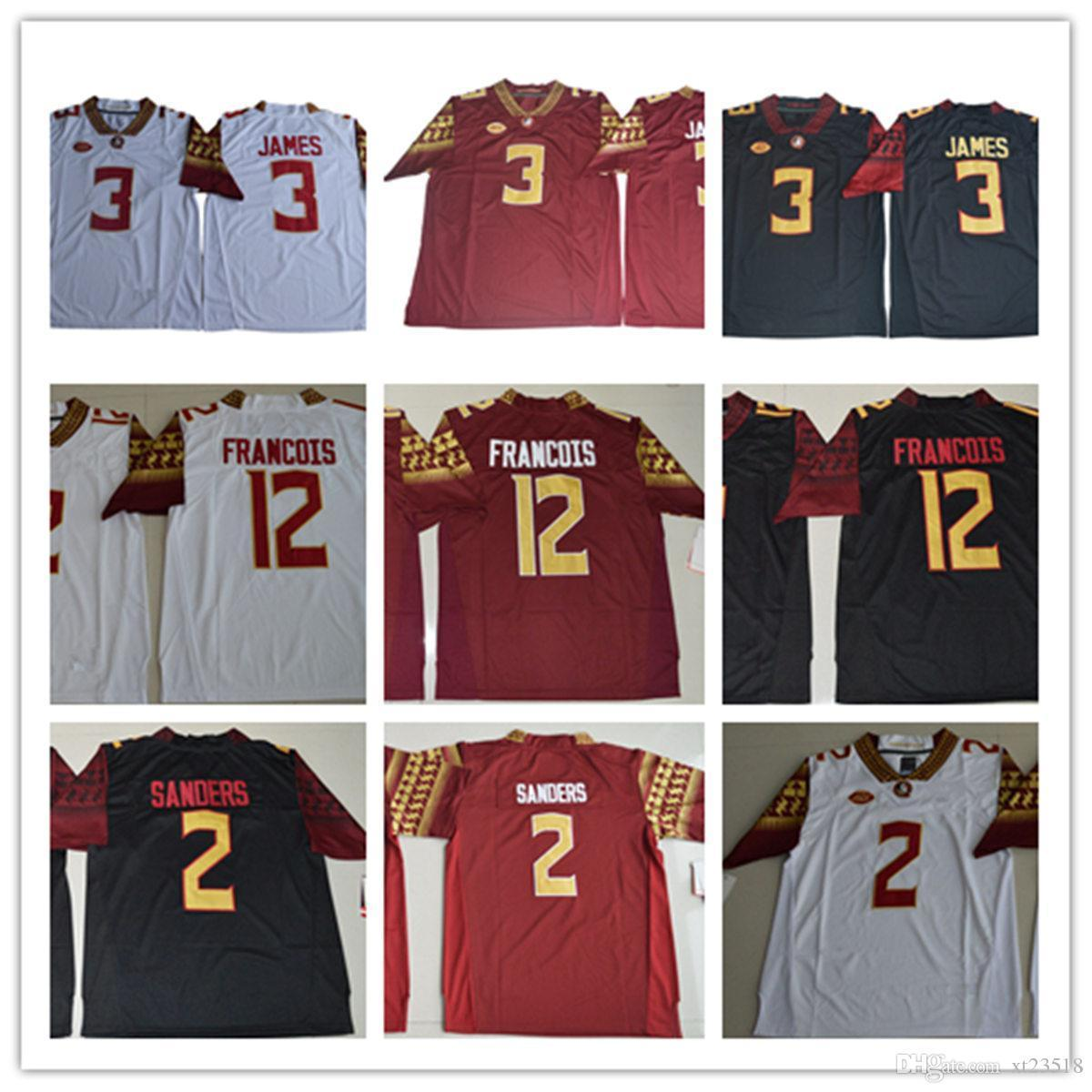 the best attitude 49a6f b61d8 Mens NCAA ACC FSU Derwin James College Football Jerseys #2 Deion Sanders 12  Deondre Francois Florida State Seminoles Jersey S-3XL