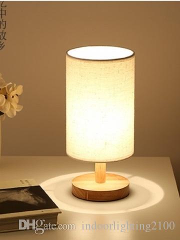 Grosshandel 110 V 220 V Stoff Lampenschirm Metall Basis Einfache