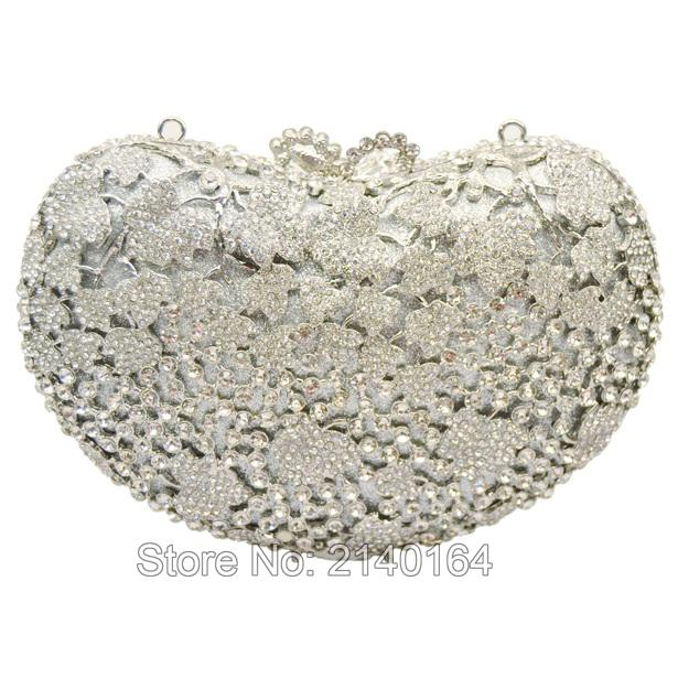 Round Luxury Crystal Diamond turquoise Clutch Bag wedding Party Purse Wholesale Luxury Hollow Out Crystal Evening Bag88434