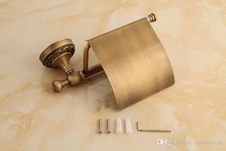 Antique Brass Paper Towel Rack Europe Style Bathroom Paper Holder European Toilet Paper Box Toilet Accessories