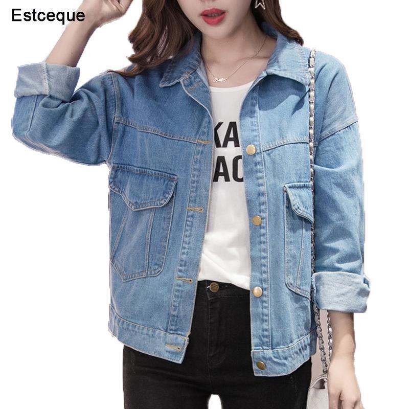 Heißer 2018 Mode Winter Jacken Frauen Casual Stricken Lange Hülse Plus Größe Kleidung Pelz Kragen Denim Jacke Jeans Hohe Qualität