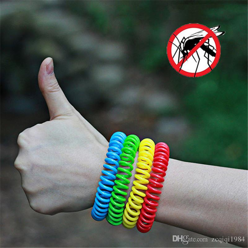 Candy Color Mosquito Repllent Hand Bracelet String Outdoor Fanshion Anti-Mosquito Wristband Tool For Camping Hiking Outdoors Wholesale