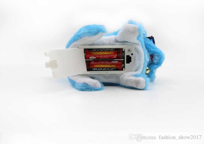 Новое Поступление На Батареи Стальной Синий Плюшевые Прогулки Лай Электронная Игрушка Собаки Развивающие Игрушки Детям Подарок Ребенка