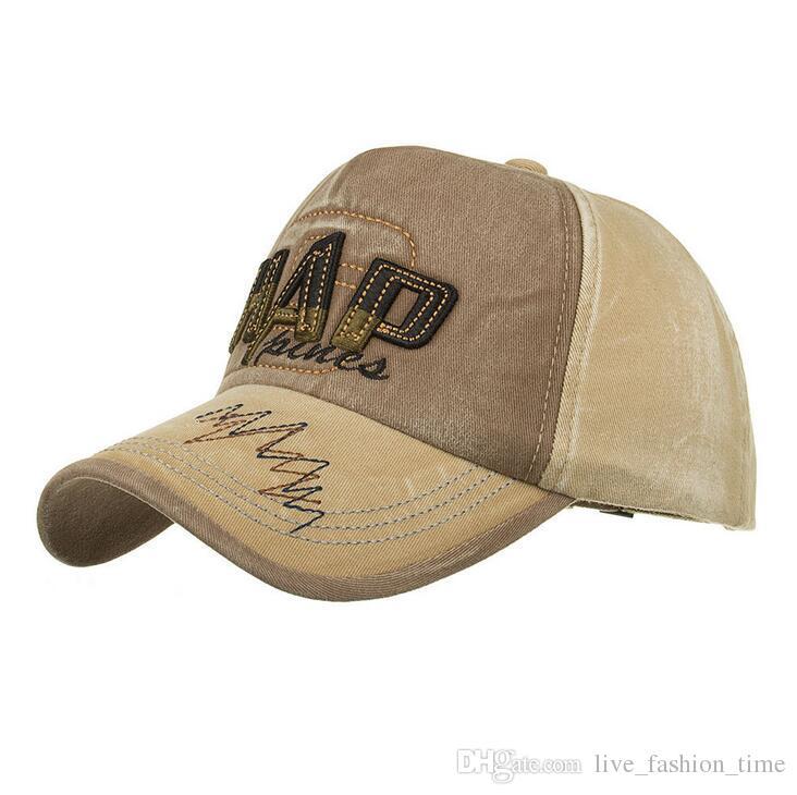 Haute Qualité Marque 3D HAP Lettre Snapback Cap Coton Baseball Cap Pour Adultes Hommes Femmes Hip Hop Papa Chapeau Os Garros Taille Réglable
