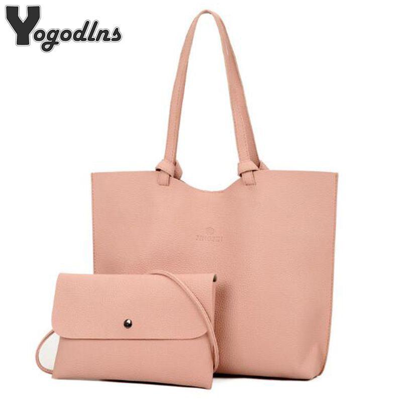 94f6604a8a Women Handbags Pu Leather Composite Bags Big Shoulder Bag Designer Female  Crossbody Bags Ladies Set Tote+Clutch Bag Man Bags Crossbody Purses From ...