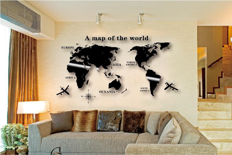 Wall Art Decal Wall Sticker Globe Earth Decor For Kid's Room Home