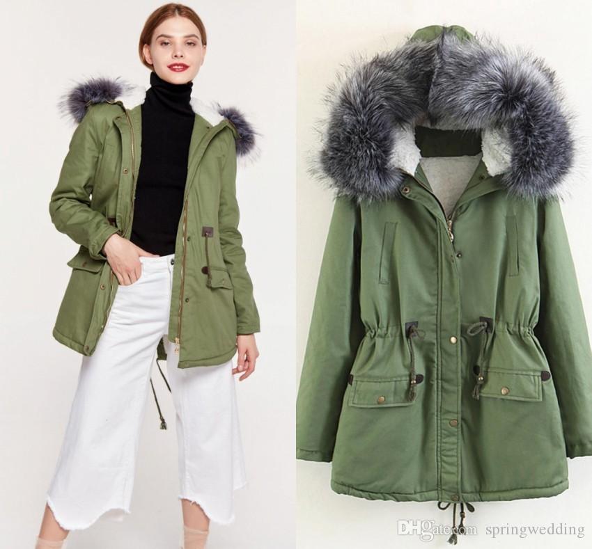 01724c745 2018 New Parkas Female Women Winter Coat Thickening Cotton Winter Jacket  Womens Outwear Parkas for Women Winter FS6093