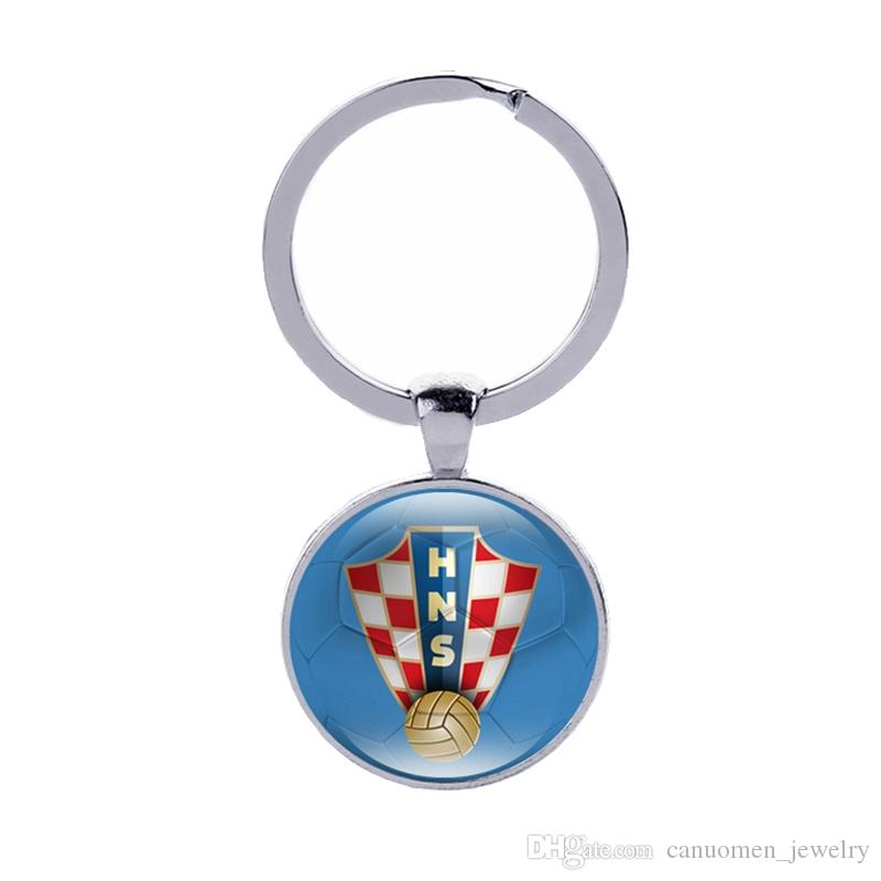Denmark Flag Football Team logo Germany Russia France Colombia Costa Rica Korea Croatia World Cup Countries Team logo Keyrings Wholesale