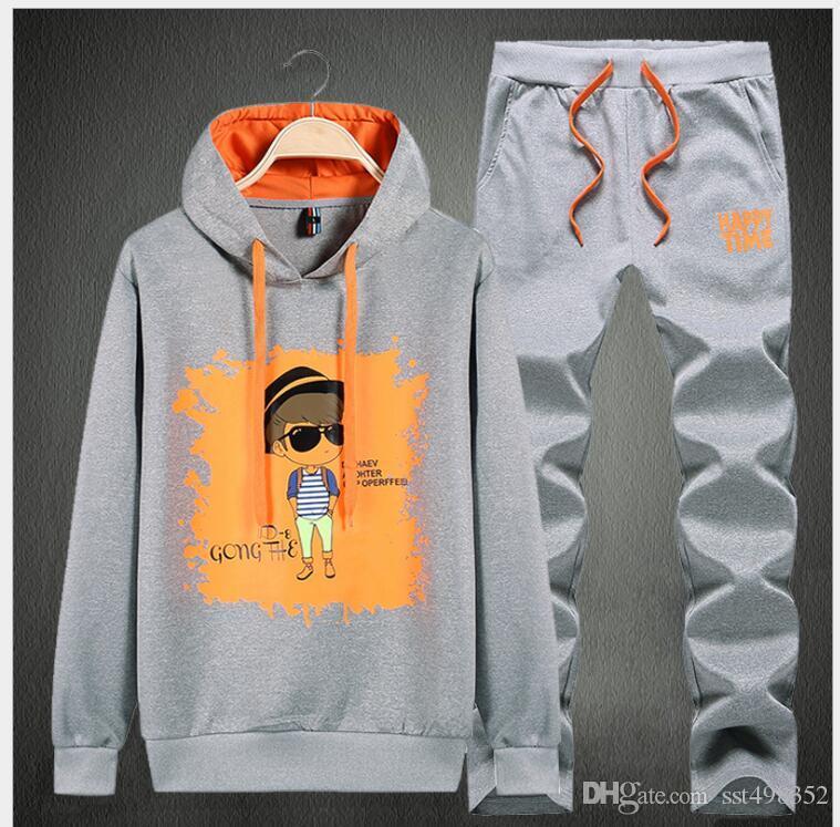 Winter Dicker Hoodie Männer Set Casual Warm Herren Trainingsanzug Outwear Herren Hoody Coat Anzüge Jacke + Jogginghose Sets