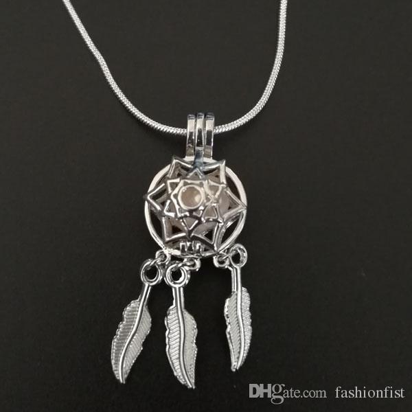 2018 Nuevo Llegó Dream Catcher Pearl Cage Colgantes Para DIY Oyster Wish Love Pearl Necklace Colgantes Joyas Medallones