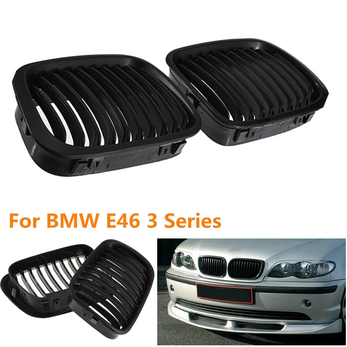 101cf5723e5 BLACK Car GRILLE GRILL For BMW E46 1998 2001 4 DOOR 320i 323i 325i 328i  330i 1998 2001 Custom Car Exterior Accessories Custom Car Lights Exterior  From ...