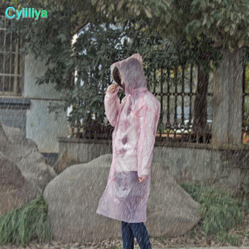 2018 New PE descartável One Time capa de chuva Poncho capa de chuva Rainwear Fashional viagens capa de chuva desgaste presentes cores misturadas