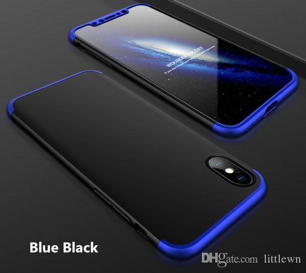 Для Iphone X сотовый телефон Case 3-в-1 360 градусов Полная противоударный броня Жесткий задняя обложка ePacket