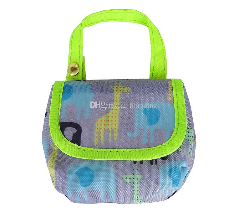 Baby Diaper Bags Portable Nappy Pacifier Snacks pocket money Storage Bag print Diaper Bag Infant stroller bags C4408