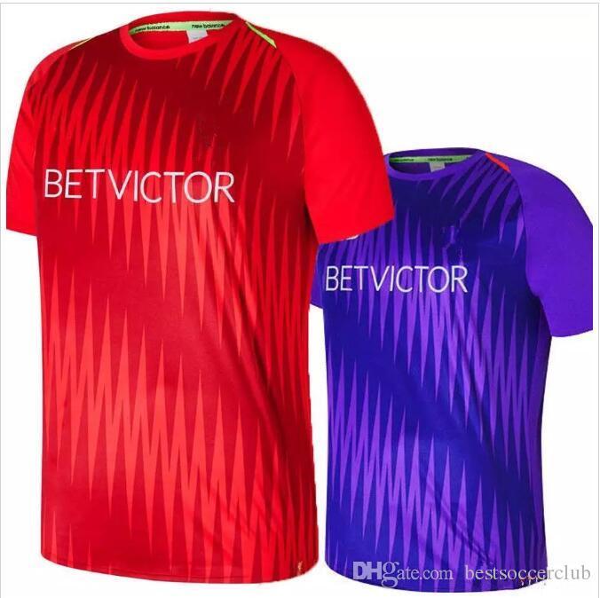 1dca4220ed6 2019 Best Quality Long Sleeve Goalkeeper Jersey #13 A.BECKER ALISSON M.  SALAH LALLANA FIRMINO KEITA Training Shirt Purple Red Football Shirt From  ...