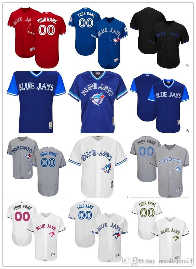 72bacbd694a 2018 Custom Men Women Youth Toronto Blue Jays Jersey Personalized ...