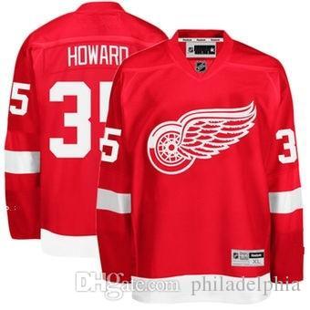 2018 Nhl Hockey Jerseys Cheap Custom Men s Detroit Red Wings Jimmy Howard  Red Home Premier Jersey Store Usa Sports Ice Hockey Jersey Blank Cheap  Hockey ... b84d01c2a