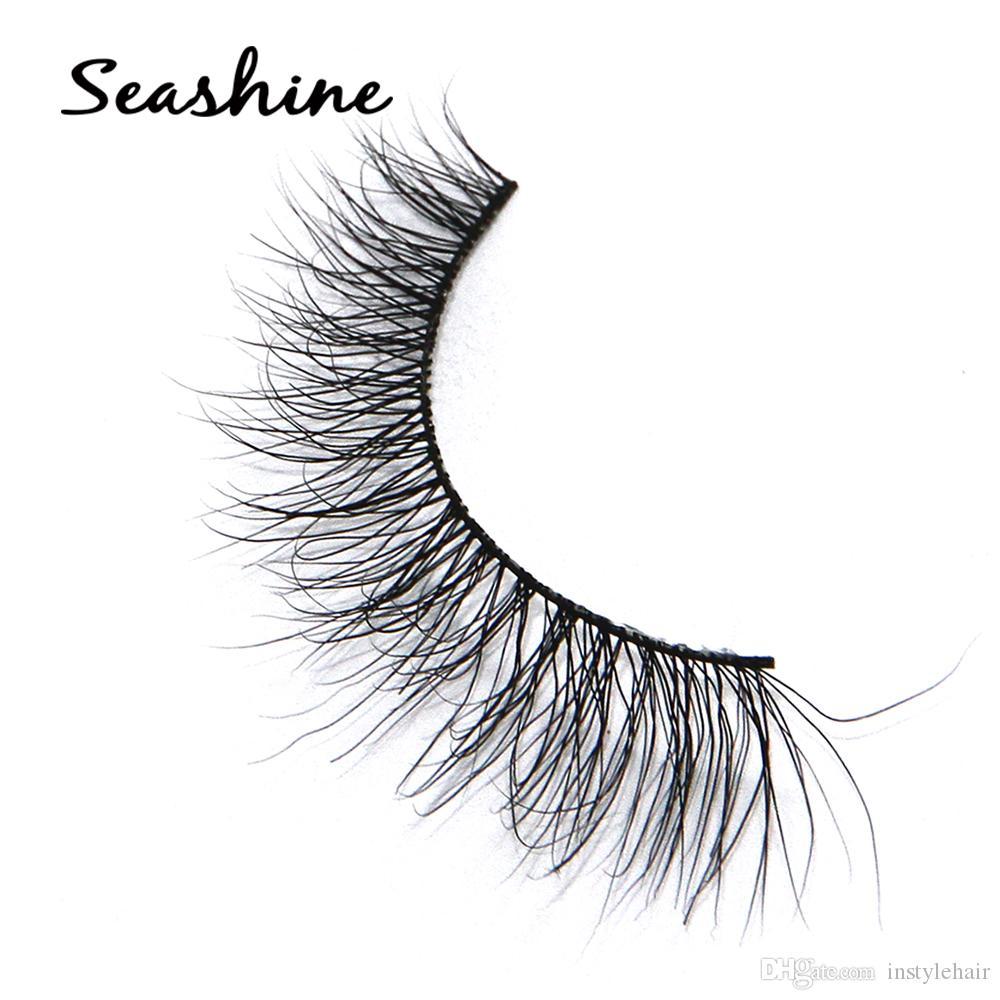1 çift / takım 3D Yanlış Eyelashes Dağınık Çapraz Kalın Doğal Sahte Göz Lashes Profesyonel Makyaj İpuçları Bigeye Uzun Yanlış Göz Lashes