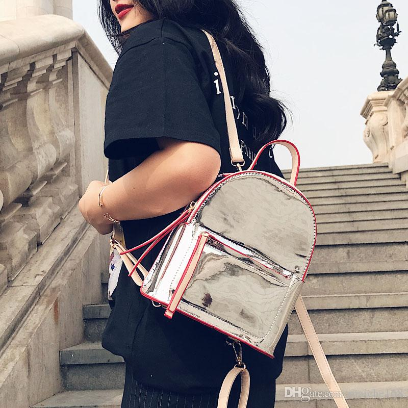 New hit bright color small shoulder bag female leisure wild multi-use mini backpack