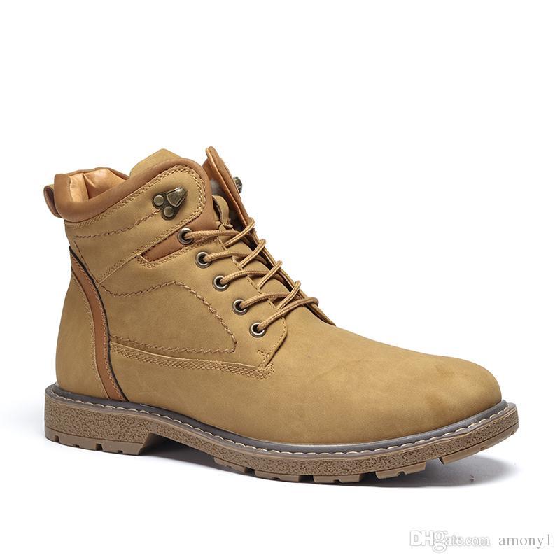 84bd2450e737 Großhandel Marke Männer Stiefel Warm Und Komfortabel 2018 Sicherheit Herren Winter  Schuhe Im Freien Wasserdichte Reise Stiefel   K8063 7 Von Amony1, ...